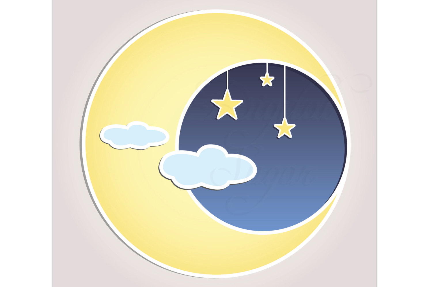 free clip art moon and stars - photo #43