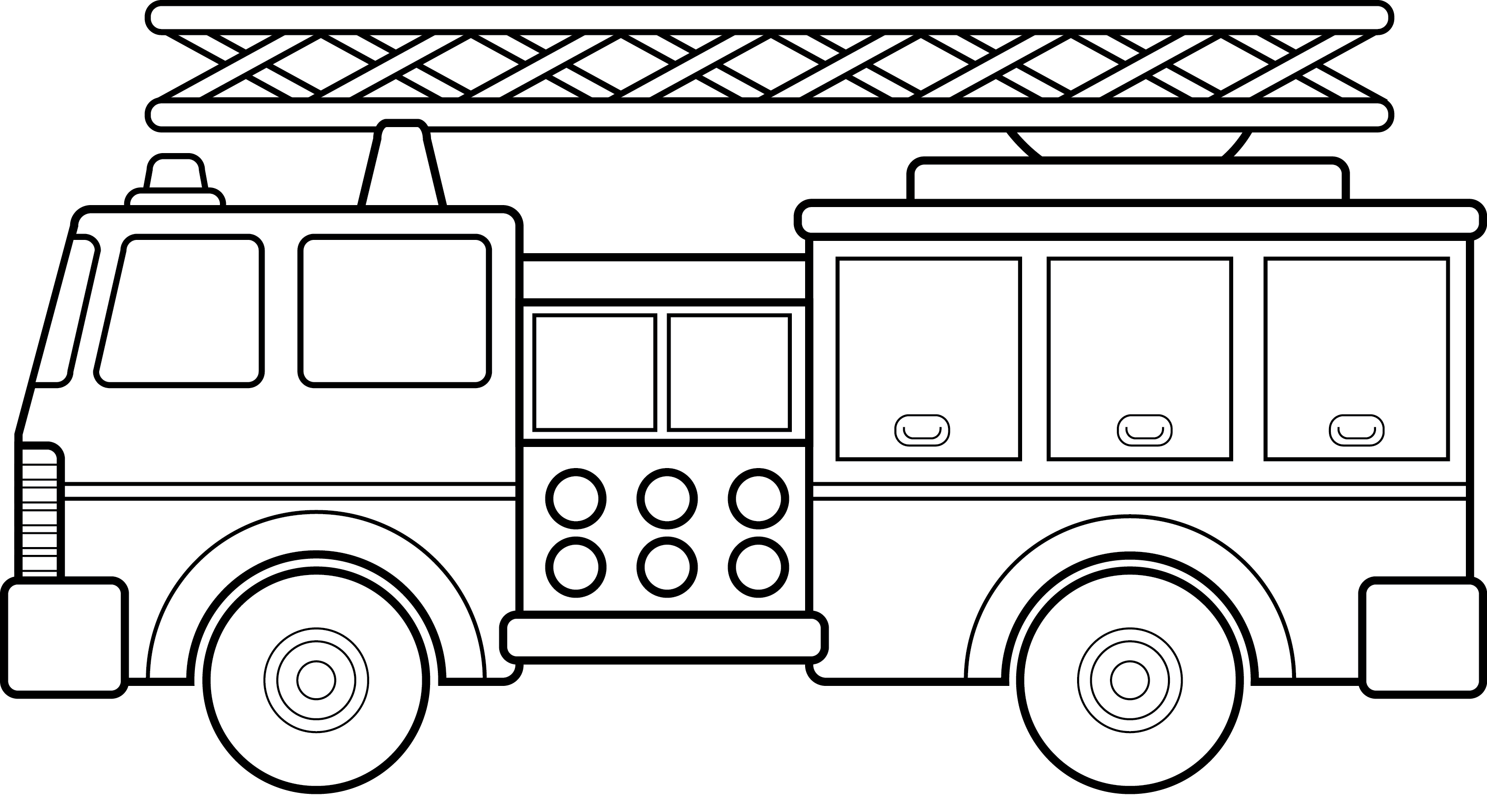 Fire Truck Outline Clipart - Clipart Suggest