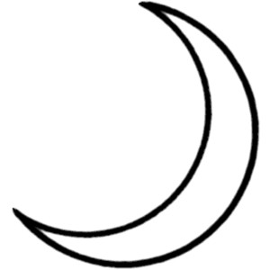 Clip Art Moon Clipart Black And White crescent moon black and white clipart kid use these free images for your websites art projects reports and