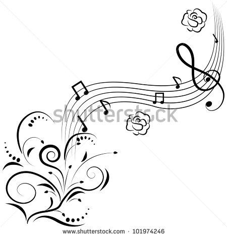 Vertical Music Staff Clipart - Clipart Kid