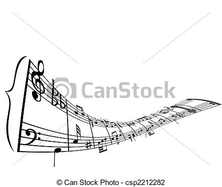 Vector   Musical Staff Theme   Stock Illustration Royalty Free