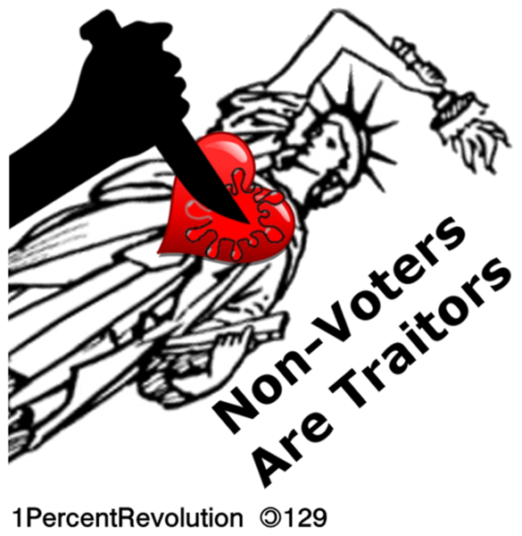 129 Traitors Do Not Vote   Free Images At Clker Com   Vector Clip Art