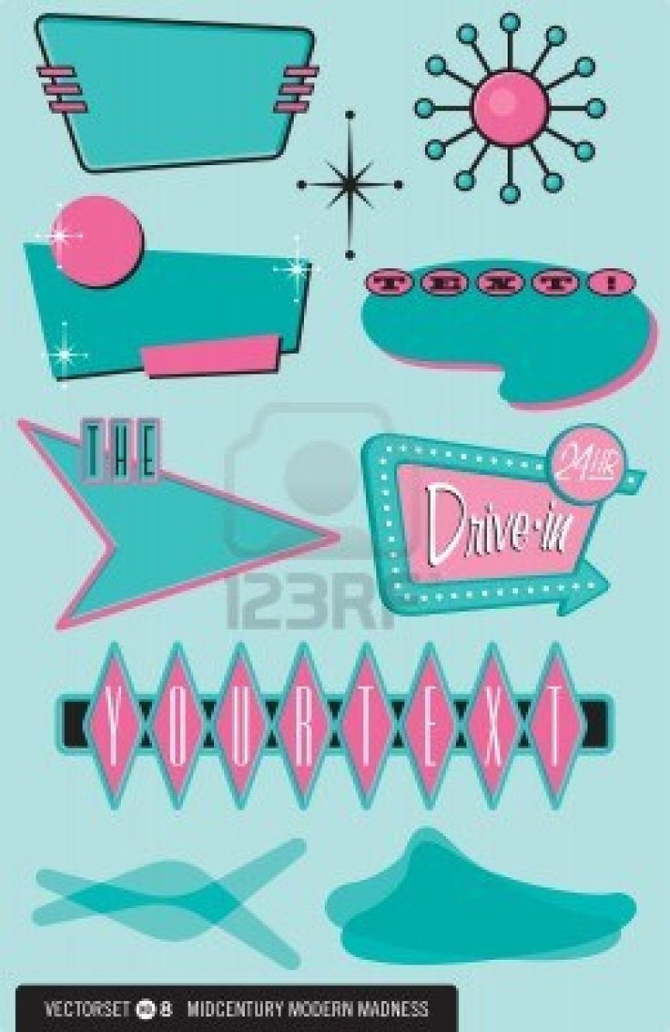 50s Diner Graphics 1950s Graphics  Via Tracy Shea