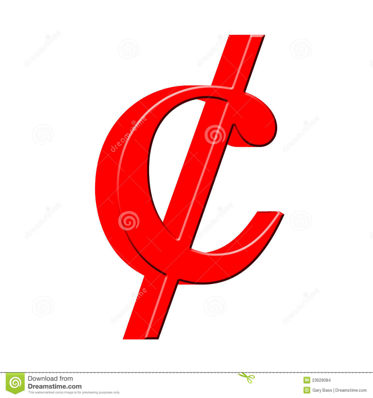 Cent Sign Clipart 3d Cent Symbol Stock Images