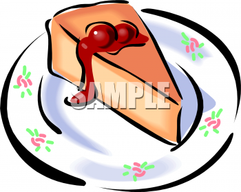 Cheesecake On A China Plate Clipart Picture   Foodclipart Com