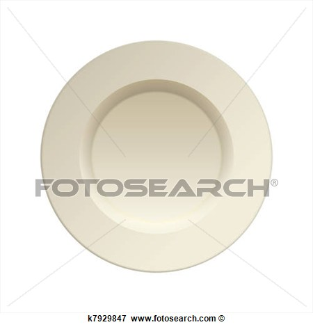 Clip Art   Porcelain China Dinner Plate  Fotosearch   Search Clipart