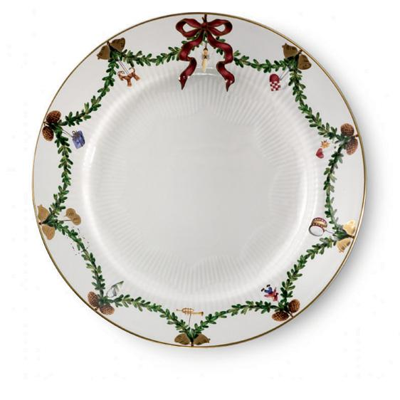 Copenhagen   Star Fluted Christmas Dinner Plate At Nielsens Gifts