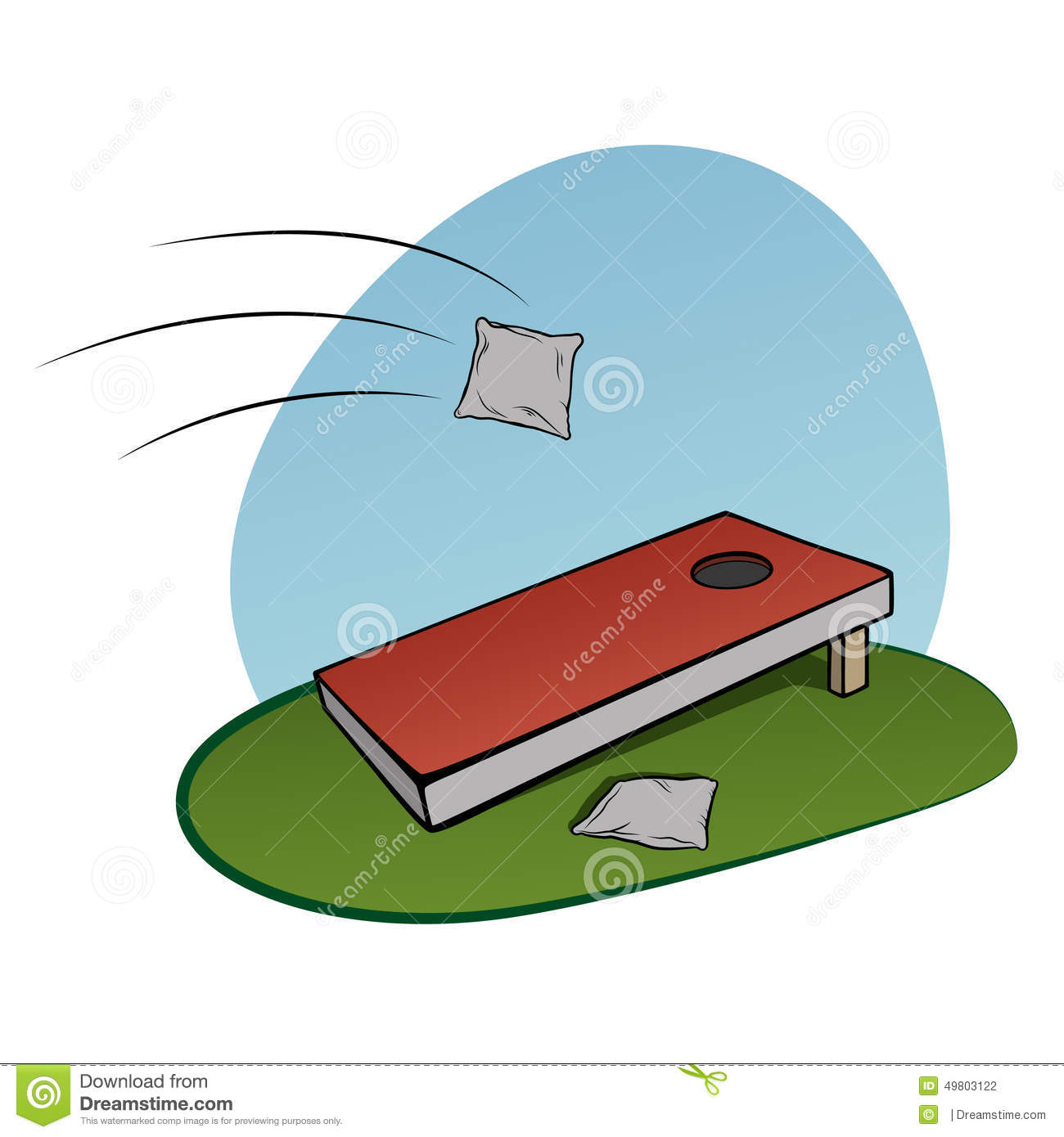 Corn Hole Game Clipart   Free Clip Art Images
