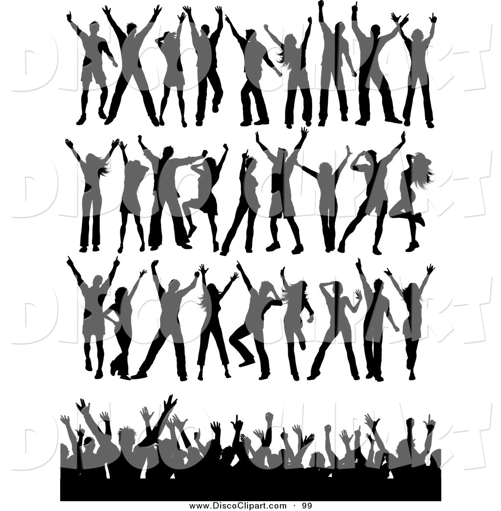 Crowd Of People Cheering Clipart - Clipart Kid
