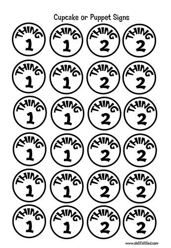 image relating to Thing 1 and Thing 2 Printable Template known as Detail 1 And Matter 2 Black And White Clipart - Clipart Baby. T