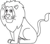 Clip Art Lion Clipart Black And White lion outline clipart kid free black and white animals clip art pictures