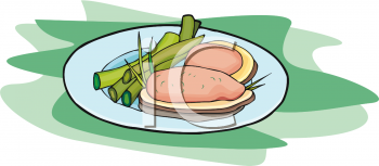 Ham Dinner Clipart Image   Foodclipart Com