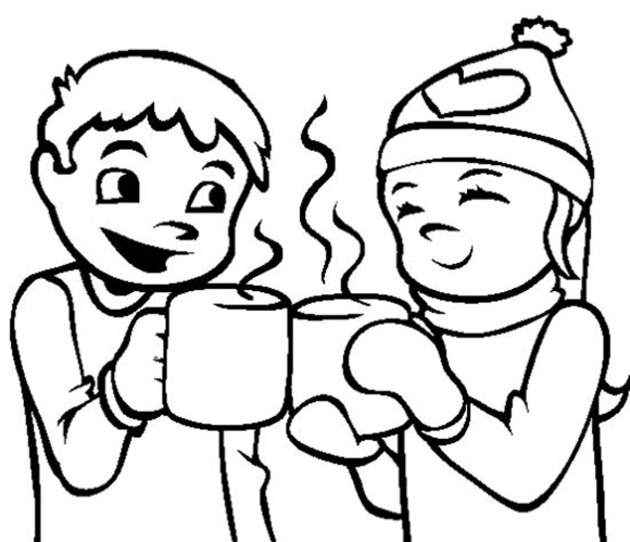 Hot Chocolate Coloring Page   Printable Coloring Pages Christmas
