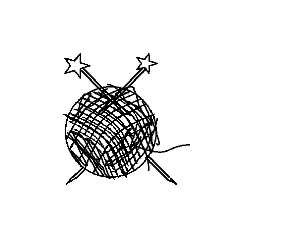 Knitting Needles In A Ball Of Yarn My Clipart   Free Images At Clker