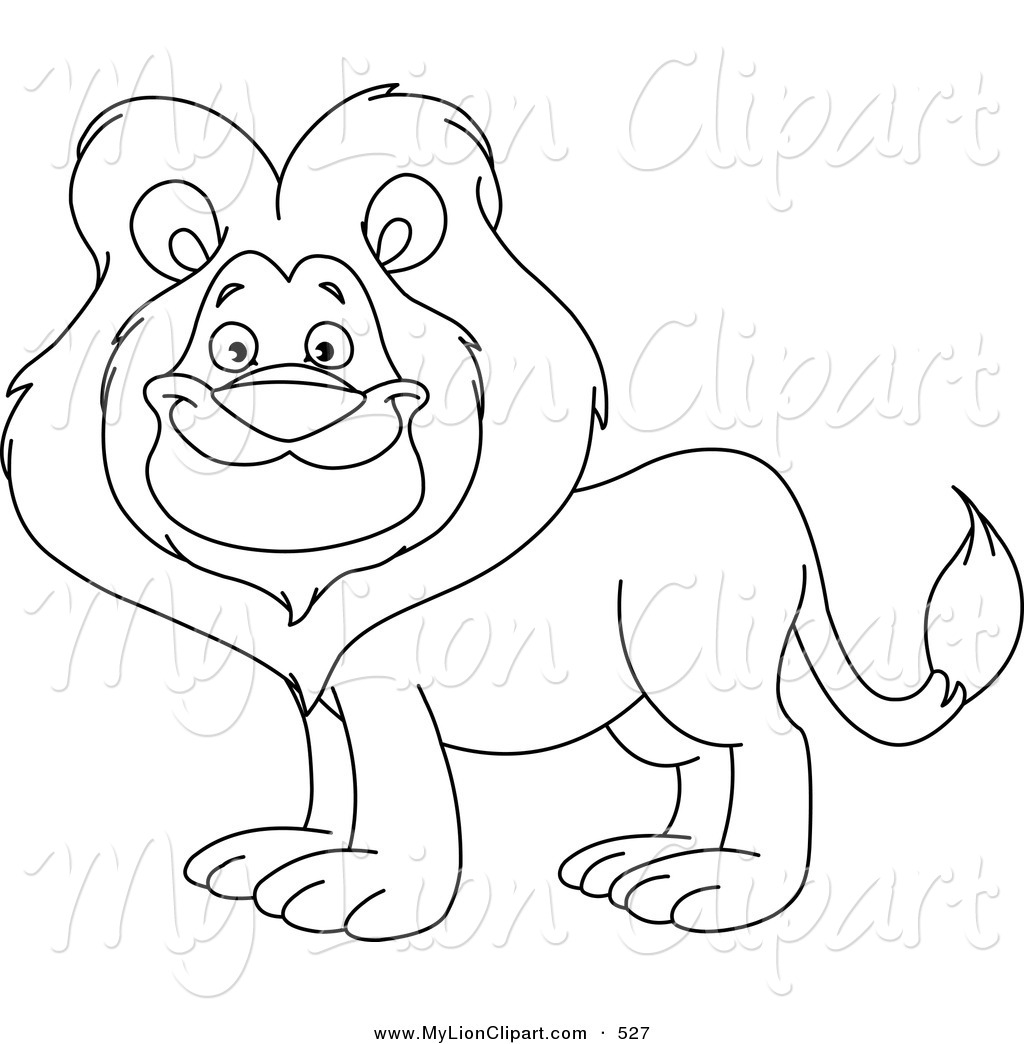 Lion Coloring Page Outline Design Of A Cute Lion Coloring Page Outline