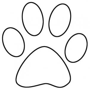 Lion Paw Print Outline   Free Cliparts That You Can Download To You