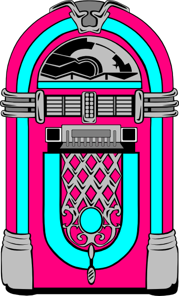 Pink And Blue Jukebox Clip Art At Clker Com   Vector Clip Art Online