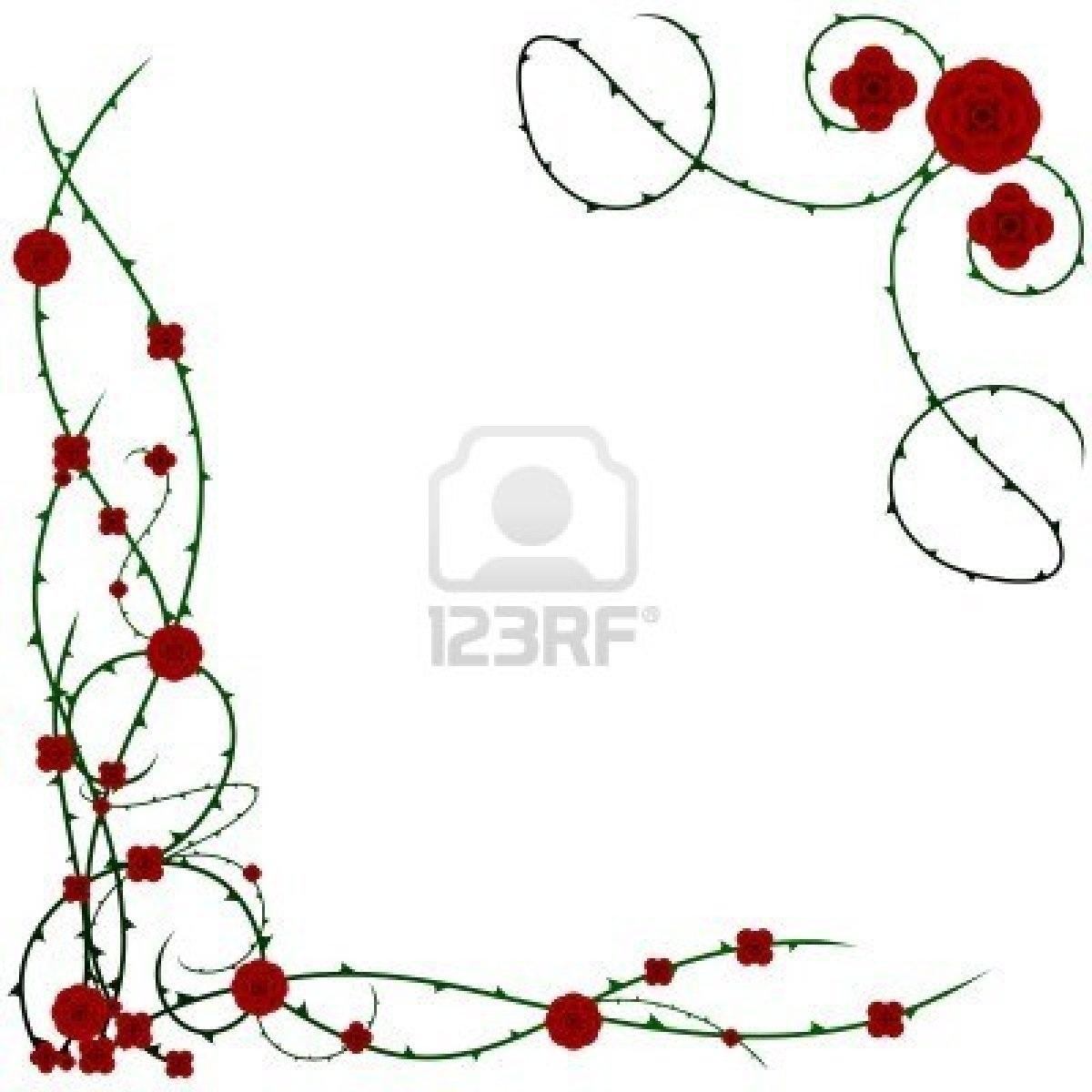 Rose Corner Clipart - Clipart Suggest