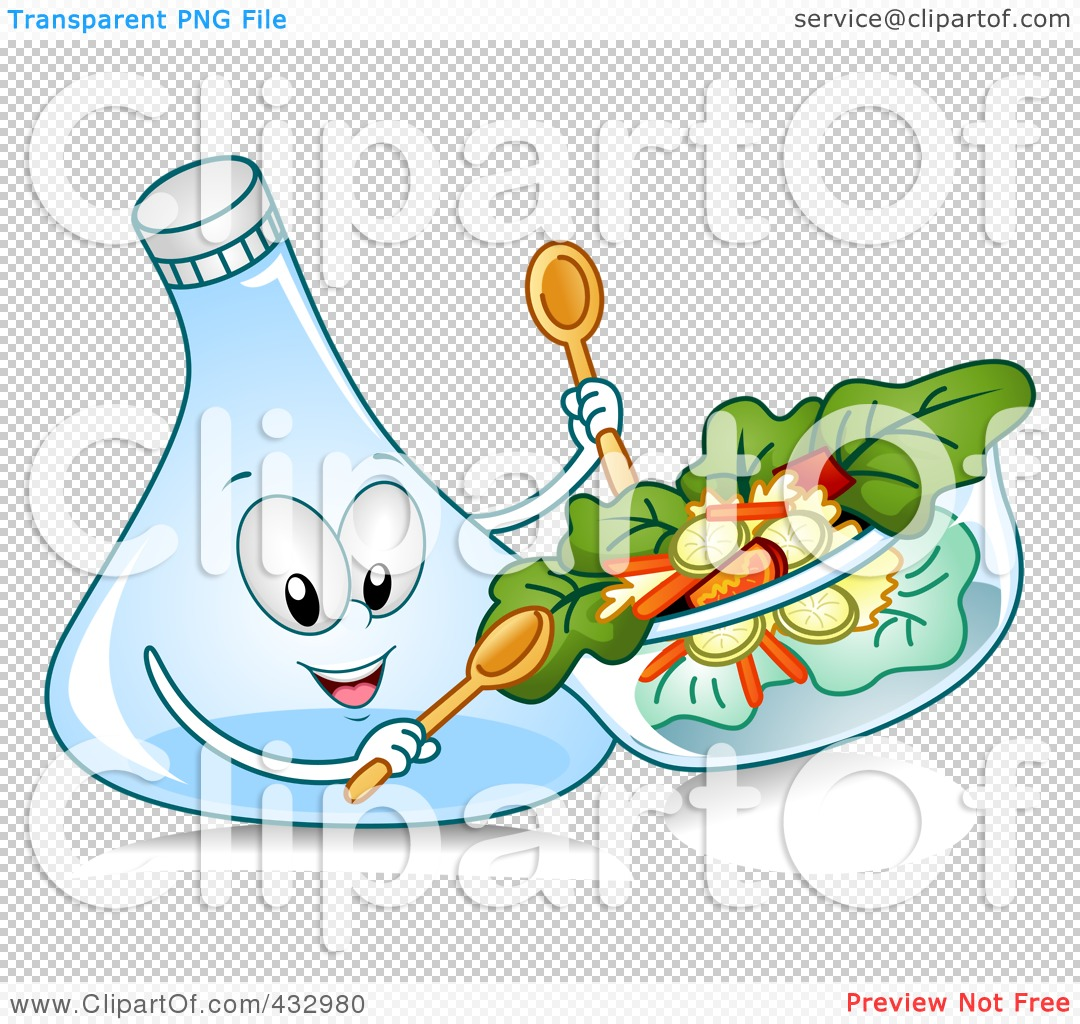 Royalty Free  Rf  Clipart Illustration Of A Salad Dressing Character