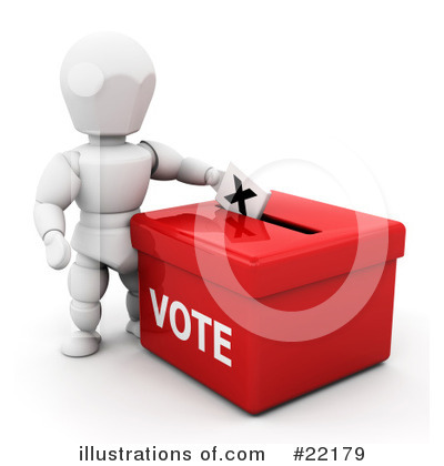 Royalty Free  Rf  Voting Clipart Illustration By Kj Pargeter   Stock