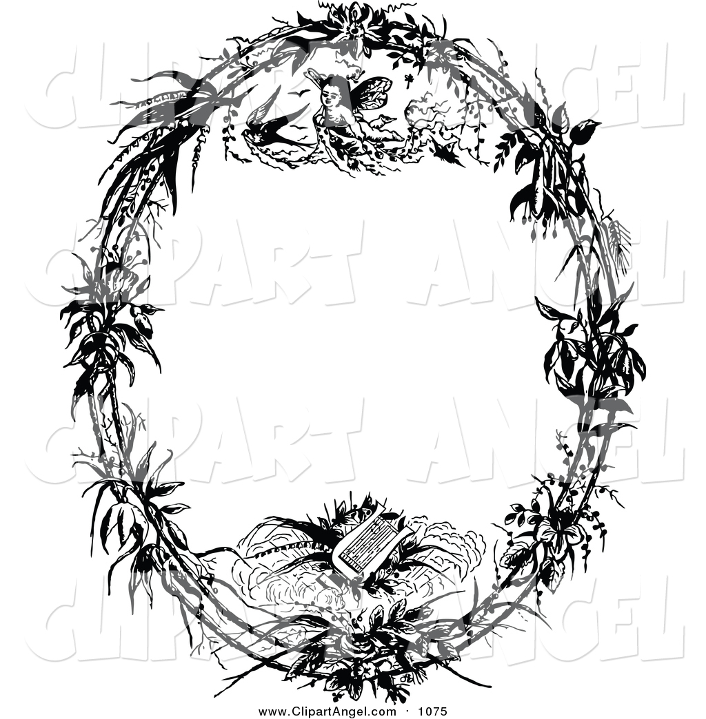 royalty free stock angel clipart of frames