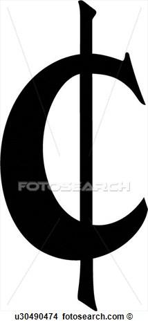 Signe Cent Monnaie Argent Sud Street Voir Clipart Grand Format