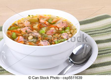 Stock Photographs Of Ham And Bean Soup   Ham And Bean Soup In A Bowl