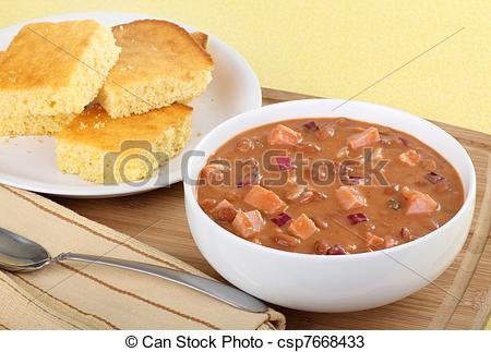Stock Photos Of Bowl Of Ham And Bean Soup   Bowl Of Ham And Bean Soup