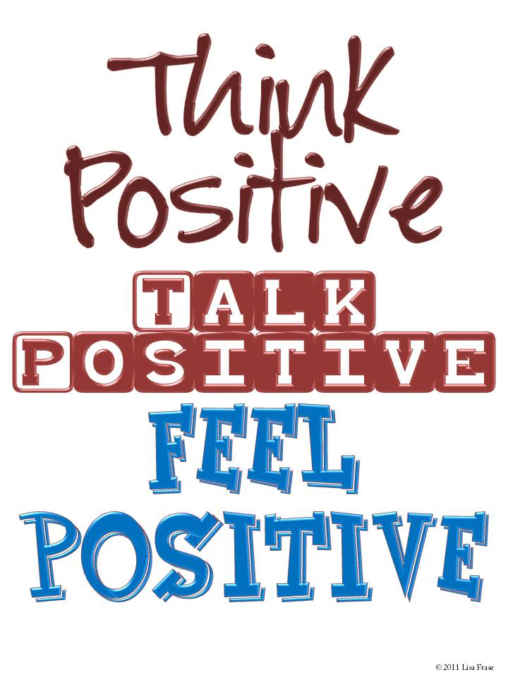 The Lesson Cloud  Free Think Positive Poster