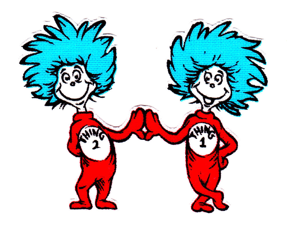 Thing 1 And Thing 2 Black And