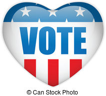 United States Election Vote Heart Button   Vector   United