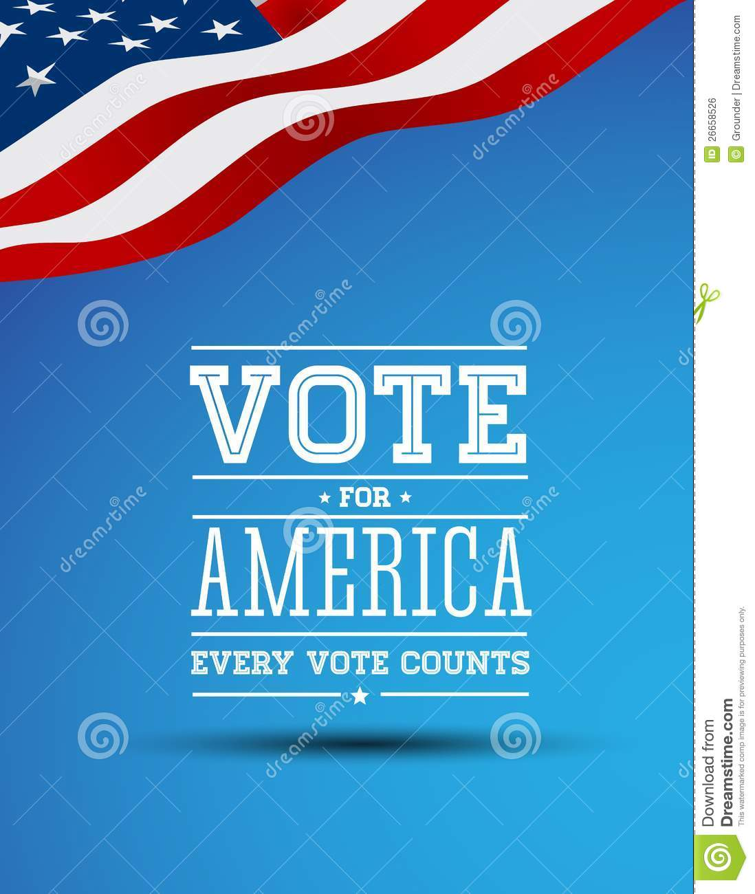 Vote For America Vintage Poster Royalty Free Stock Image   Image