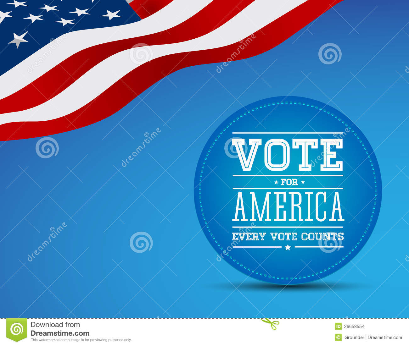 Vote For America Vintage Poster Stock Images   Image  26658554