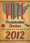 Vote Presidential Election Poster Vintage Vote Republican Metal Sign