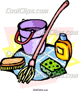 2011   Cleaning Supplies Free Clip Art  Bucket Cleaning Supplies
