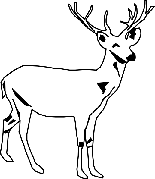 Antlers Clipart Black And White   Clipart Panda   Free Clipart Images