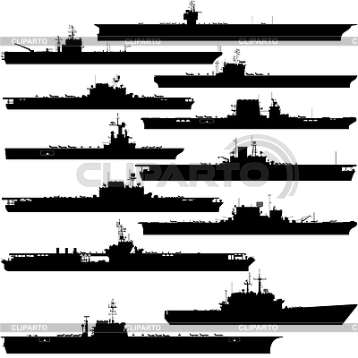 Contour Image Of Aircraft Carriers  Illustration On White Background