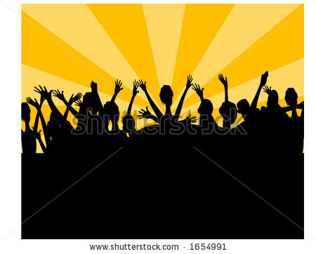 Crowd Cheering Clipart - Clipart Kid