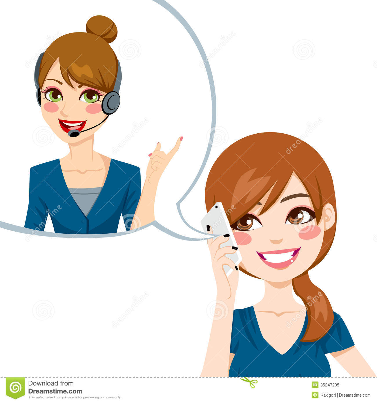 Telephone Customer Service Clip Art