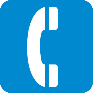 Emergency Telephone Blue Clip Art At Clker Com   Vector Clip Art