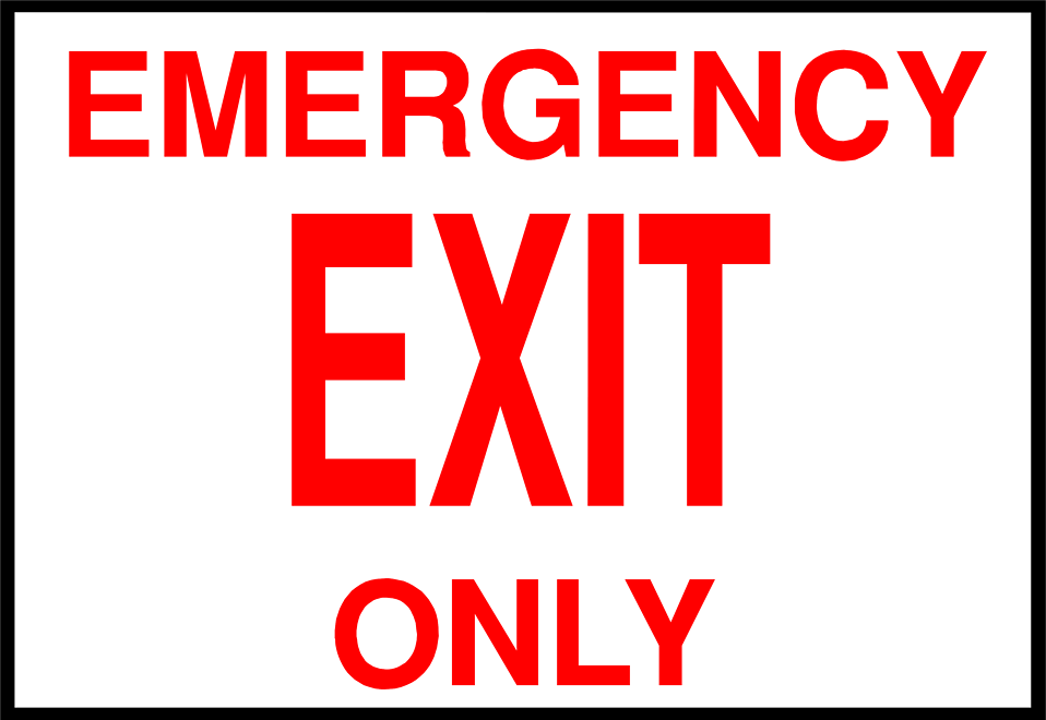 No Exit Sign Clipart - Clipart Kid