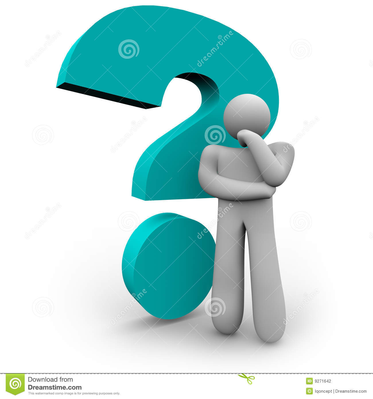 More Similar Stock Images Of   Question Mark And Thinker