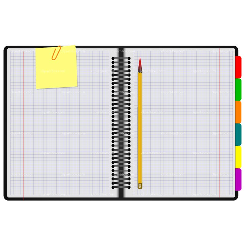 Notebook With Writing Clip Art Notebook Paper Writing
