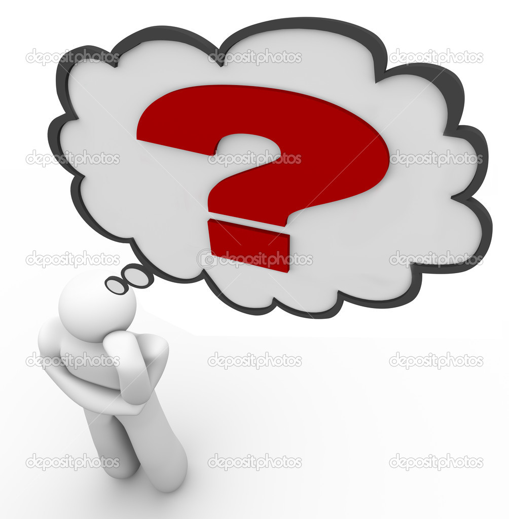 Person Thinking With Question Mark Person Thinking With