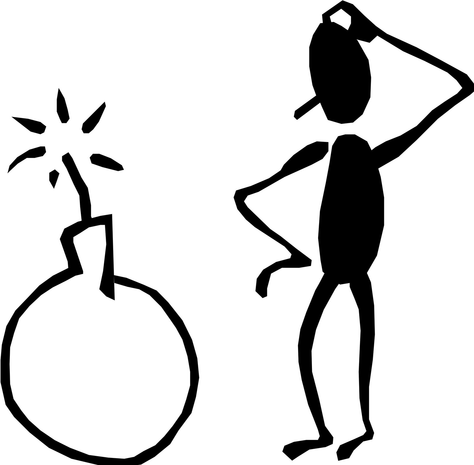 Stick Man Thinking   Clipart Panda   Free Clipart Images