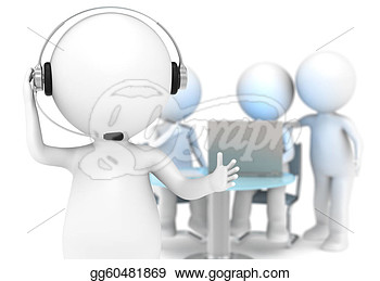 Stock Illustration   Customer Support   Clipart Drawing Gg60481869