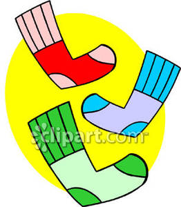 Unmatched Socks   Royalty Free Clipart Picture