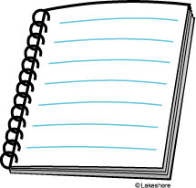 Writing Notebook Clipart