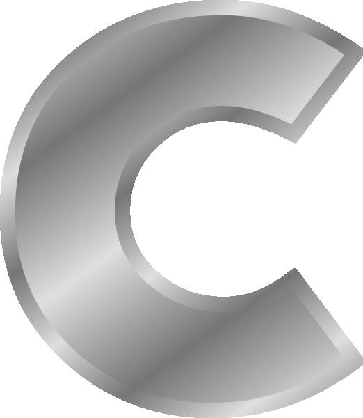 Alphabet Silver C Clip Art 104630 Effect Letters Alphabet Silver C