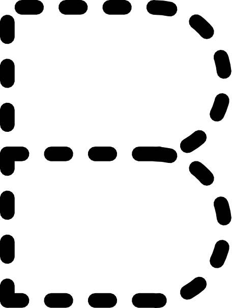 Alphabet Tracing Letter B Clip Art At Clker Com   Vector Clip Art